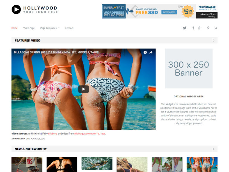 Hollywood WordPress Video Theme