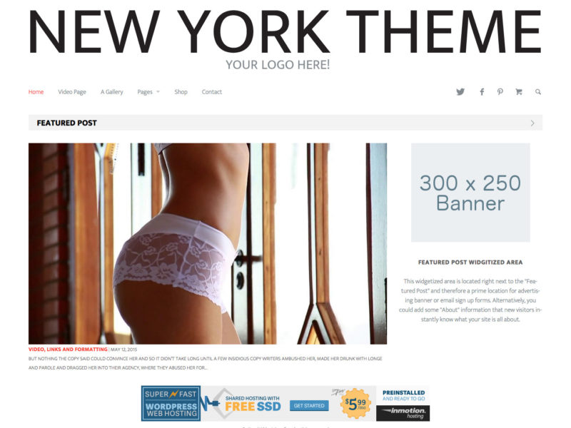 New York - A Minimal WordPress Magazine Theme
