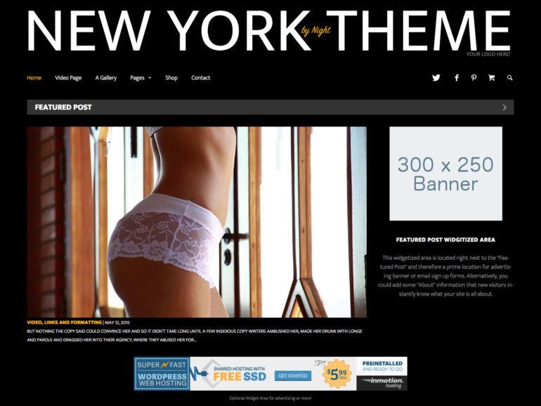 New York by Night - A Dark WordPress Magazine Theme