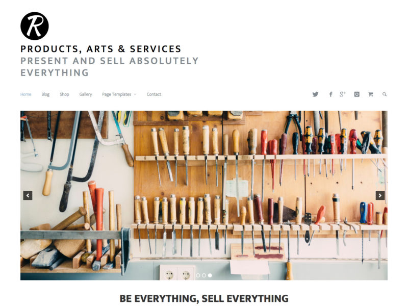 Products, Arts & Services - A Minimal WordPress Business Theme