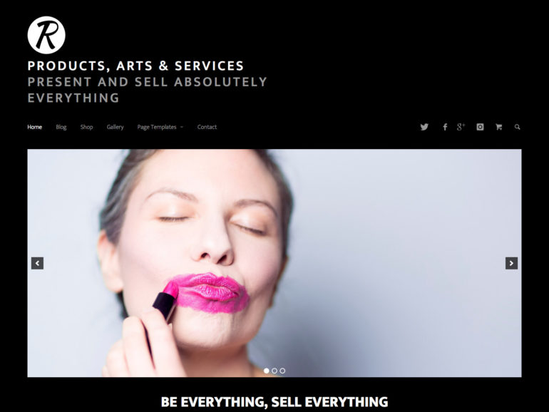 Products, Arts & Services- WordPress Buisness Theme