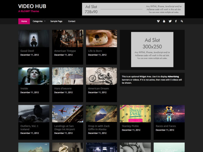 Vide Hub Theme - Best Selling WordPress Video Theme