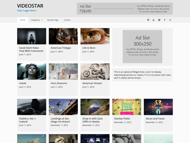 Video Star WordPress Video Theme