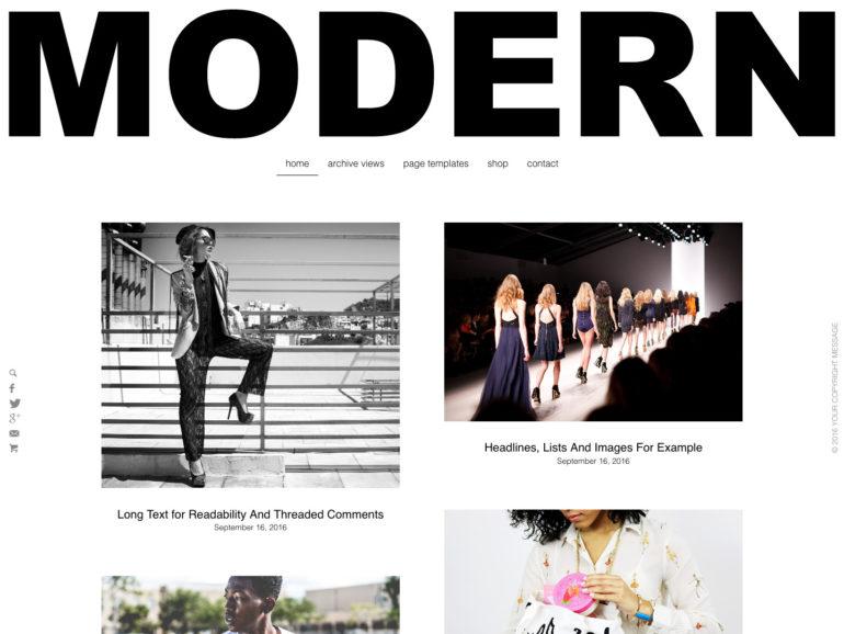 Rich Modern - A WordPress Grid Theme
