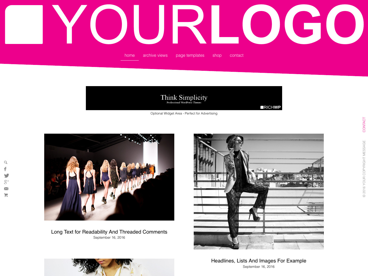 Rich Modern WordPress Theme