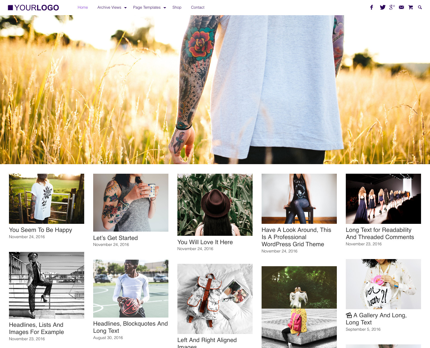 WordPress Grid Theme