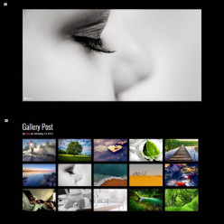 Dark WordPress Gallery Theme