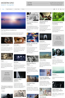 WordPress Grid Theme - ModernGrid