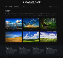 Showcase Dark: Dark WordPress Gallery Theme - Dark WordPress Portfolio Theme