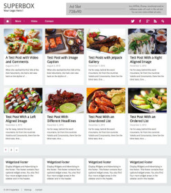 WordPress Foodie Theme - Superbox