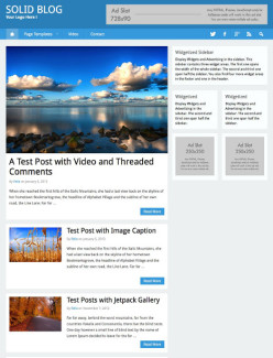 Flat WordPress Blog Theme - Solid Blog