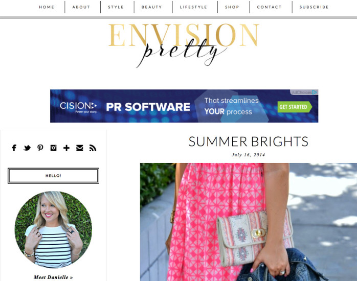 envision pretty famous fashion blog