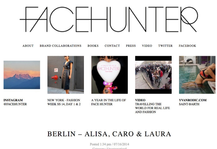 FaceHunter - Fashion & Style Blogger