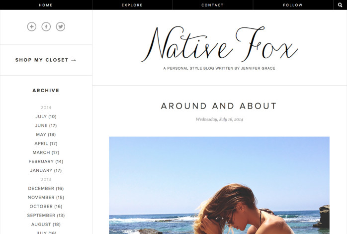 Famous Fashion Blog - Native Fox