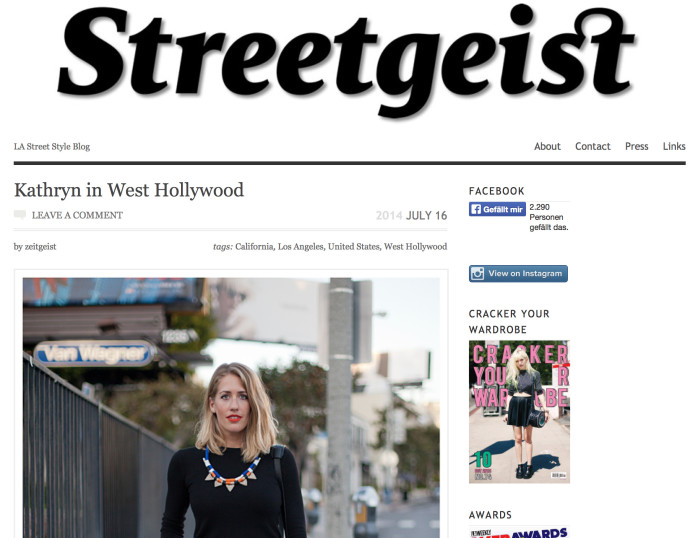 Famous Fashion Blog Streetgeist