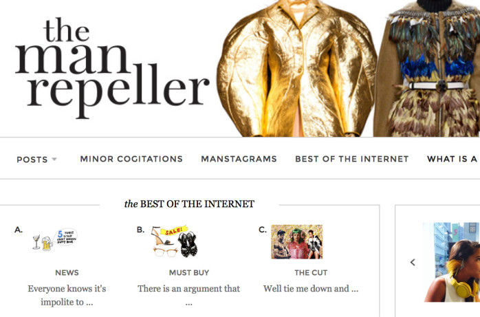 manrepeller.com - famous fashion blog