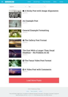Minimal WordPress Theme - Minimum