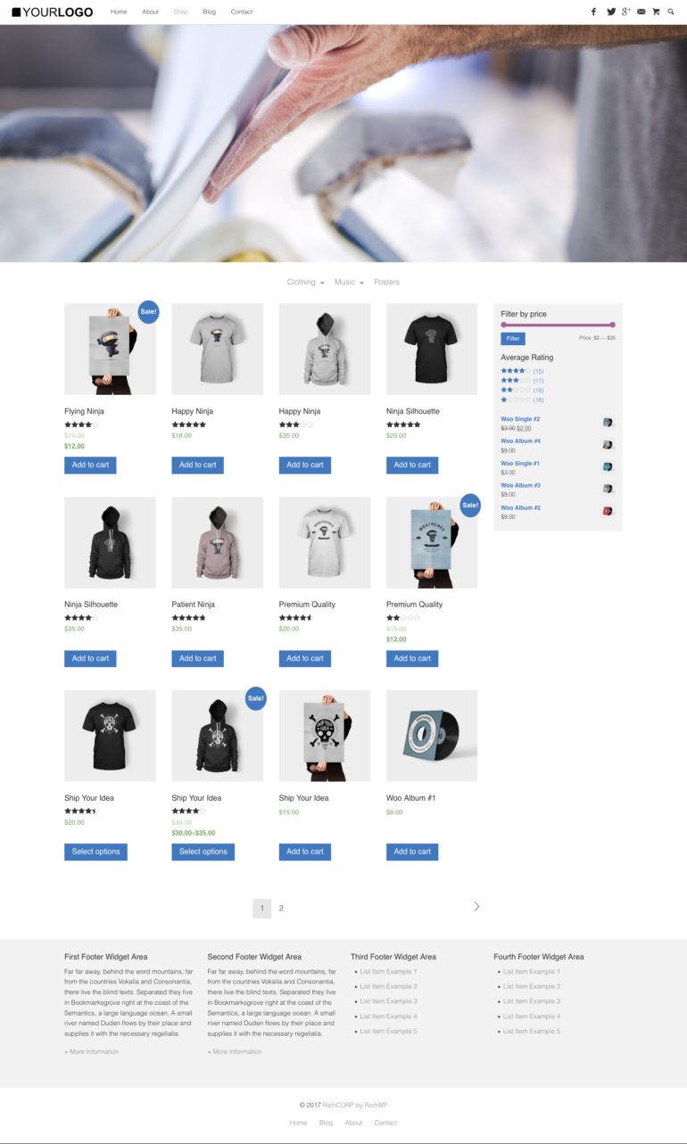 RichCORP - WordPress Business Theme - WooCommerce Shop View