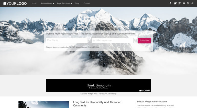 RichMaster - Professional & Personal WordPress Blog Theme
