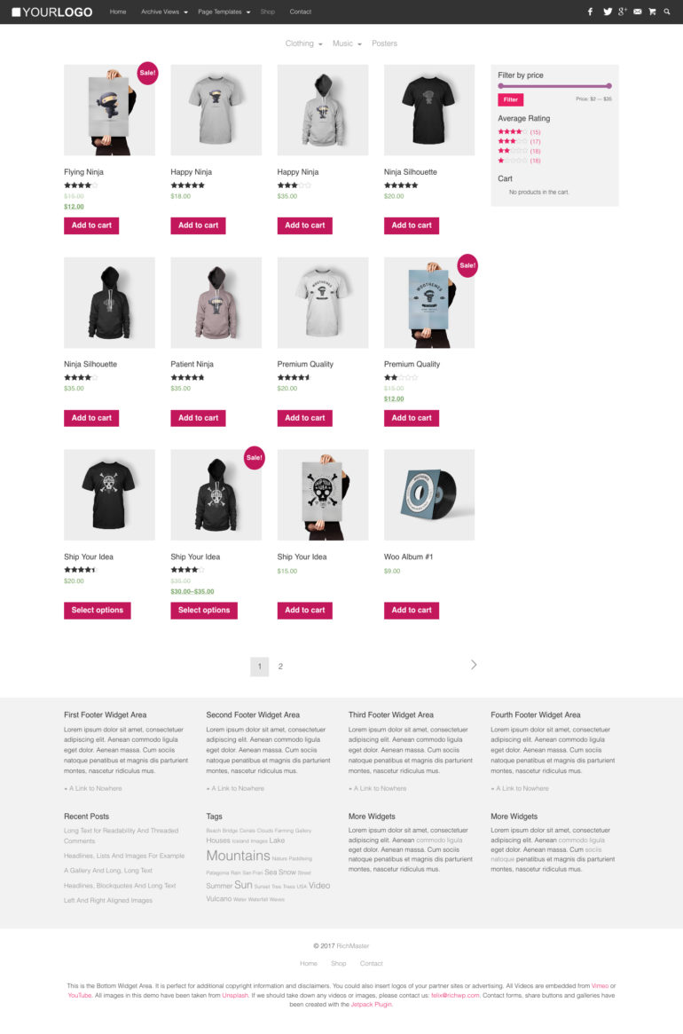 WooCommerce Shop View | RichMaster - Professional & Personal WordPress Blog Theme