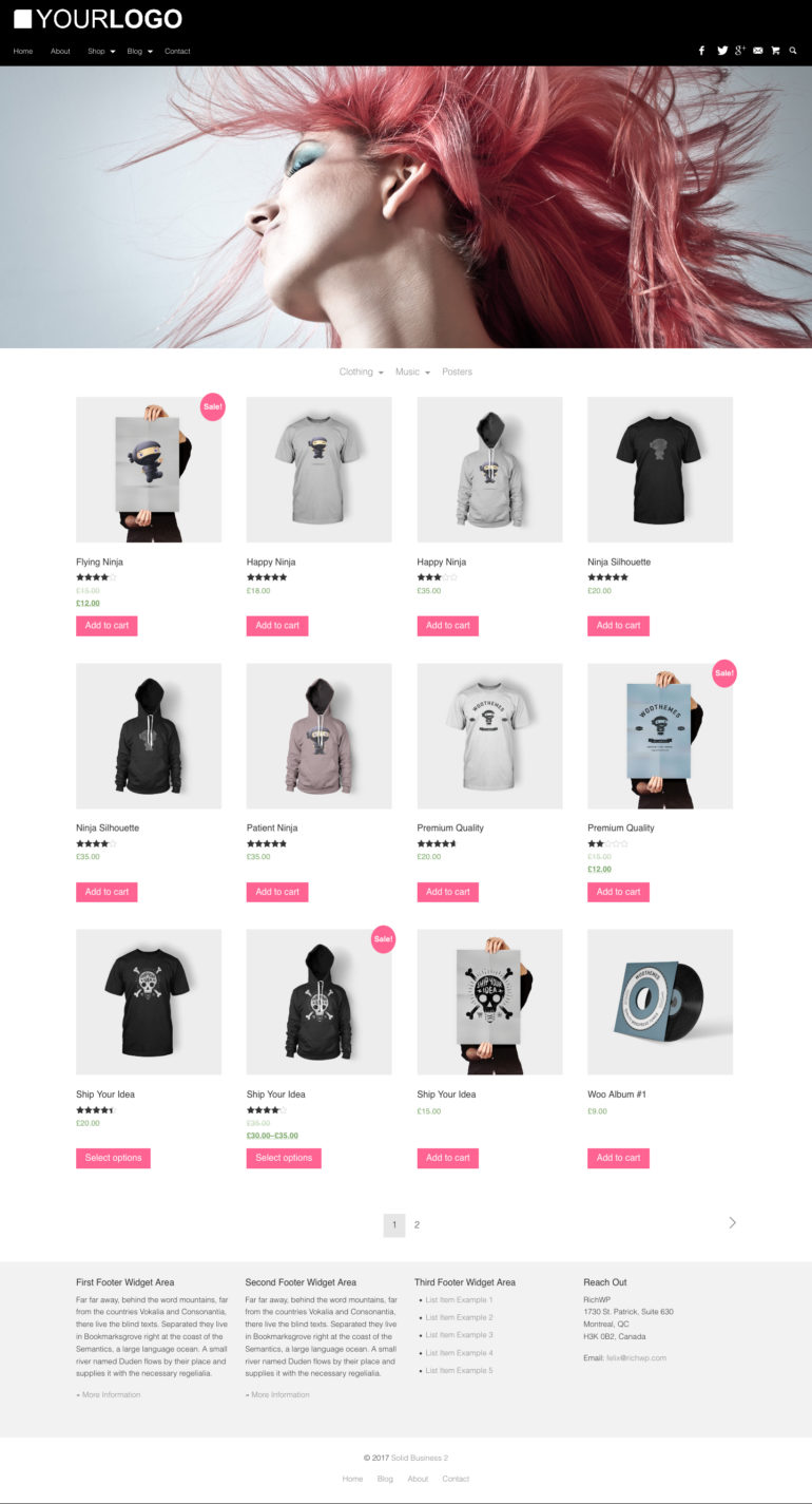 Solid Business WordPress Business Theme - WooCommerce