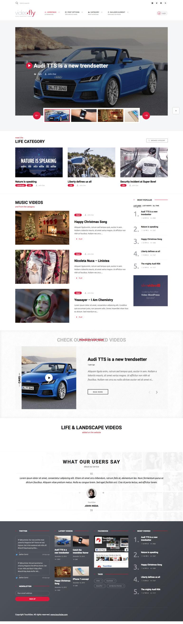 Videofly - WordPress Theme