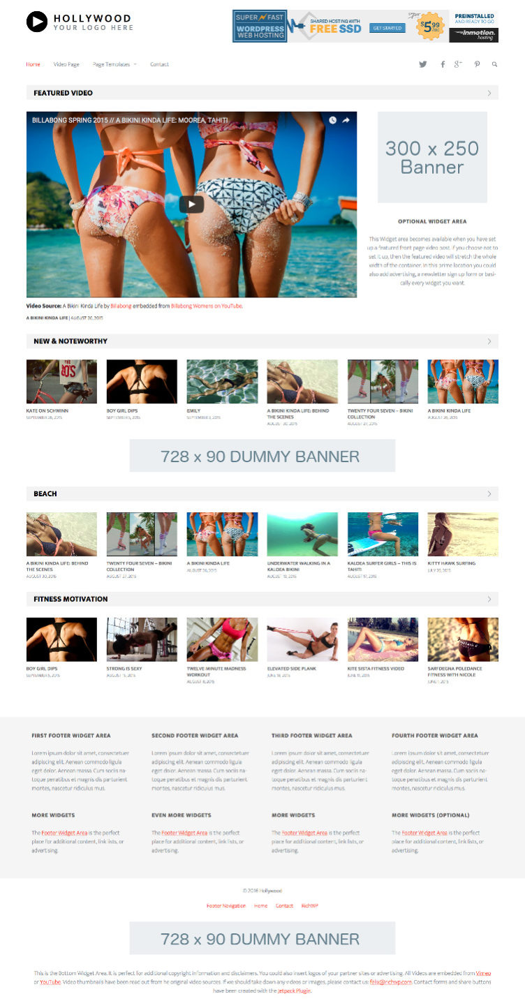 Hollywood WordPress Video Theme