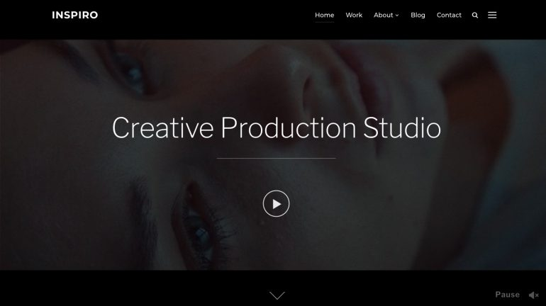 Inspirio Video Production Agency WordPressTheme