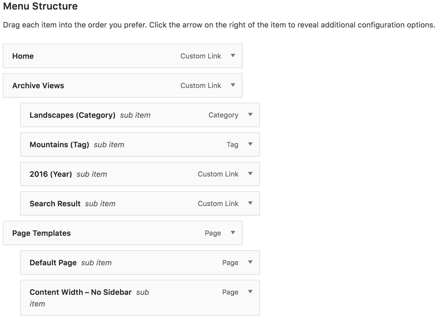 WordPress Dropdown Multi-Level Menus