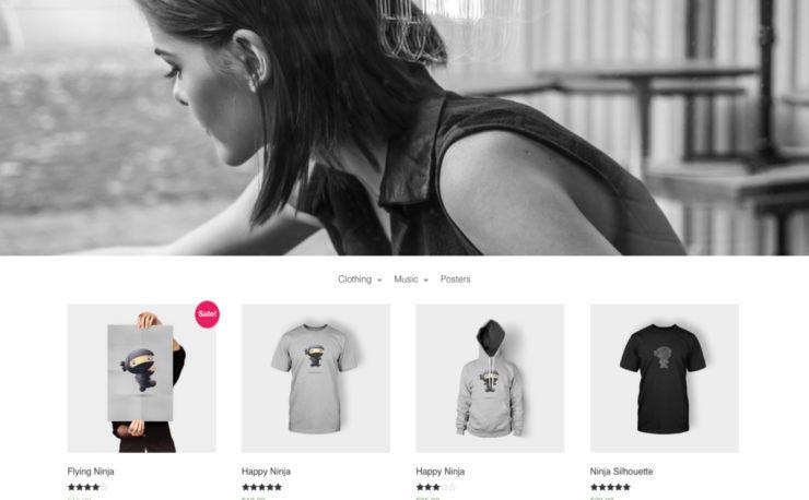 Pop Up SHop Flat Minimal WooCommerce Theme for WordPress