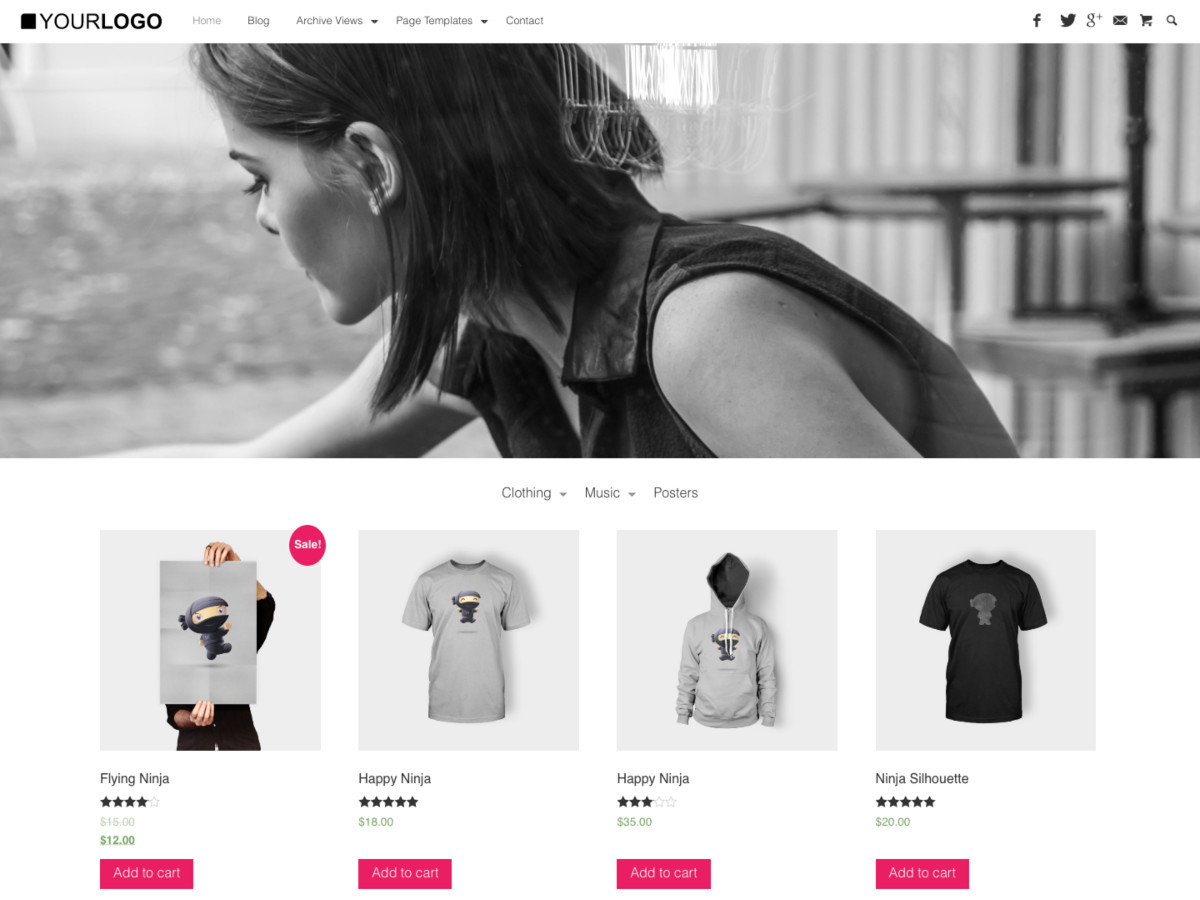 Pop Up SHop Flat Minimal WooCommerce Theme for WordPress