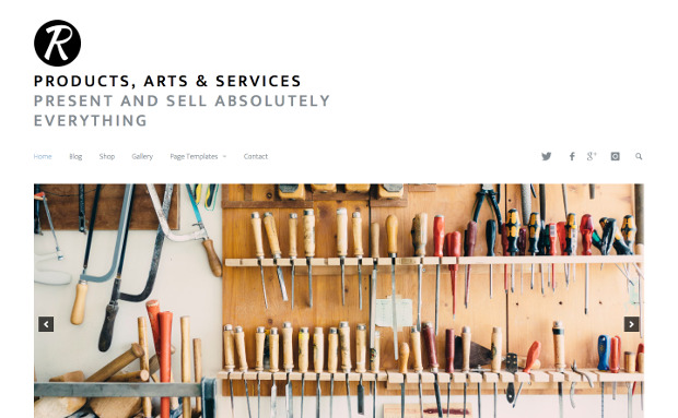 Products, Arts & Services Theme
