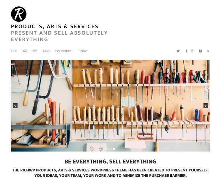Minimal WordPress Photography Theme