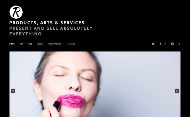 The Dark Version Of The Products, Arts & Services Theme