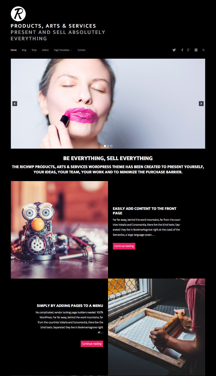 Dark WordPress Photography  Theme