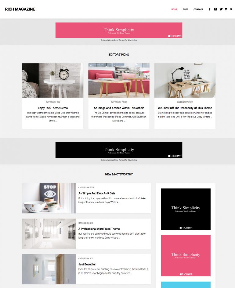 Rich Magazine - WordPress Magazine Theme