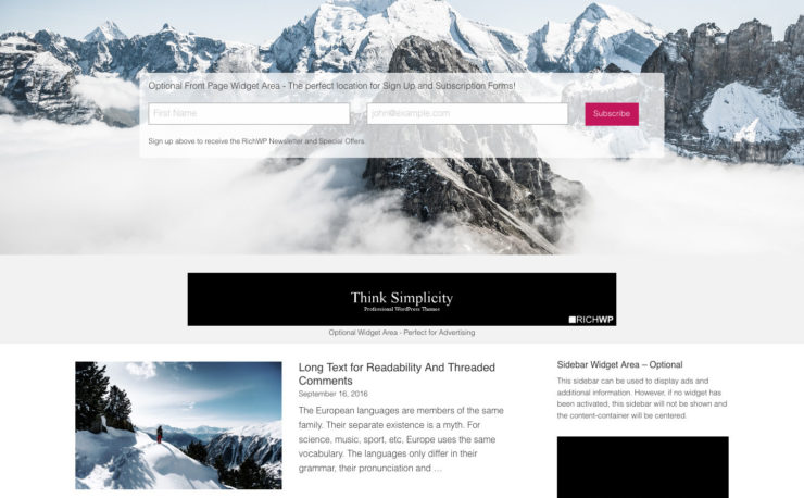 Personal Blog Theme - Rich Master