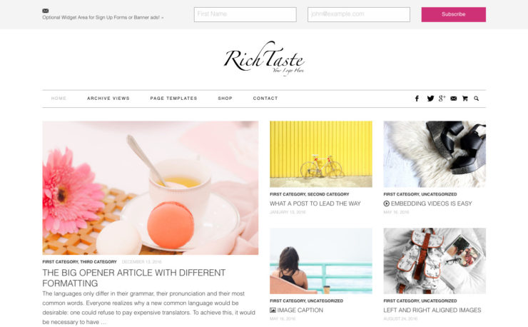 Fashion & Lifestyle WordPress Theme
