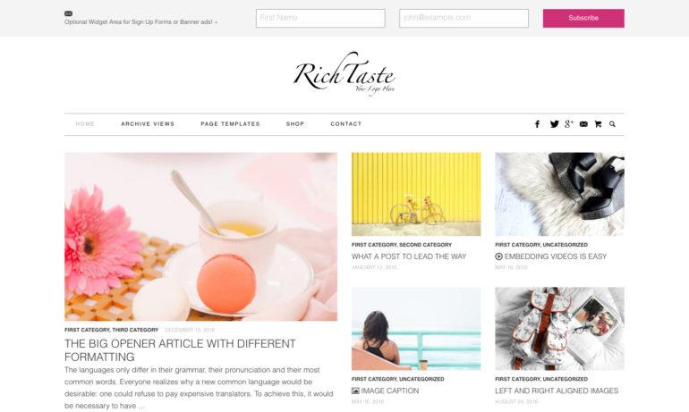 Fashion & Lifestyle WordPress Theme