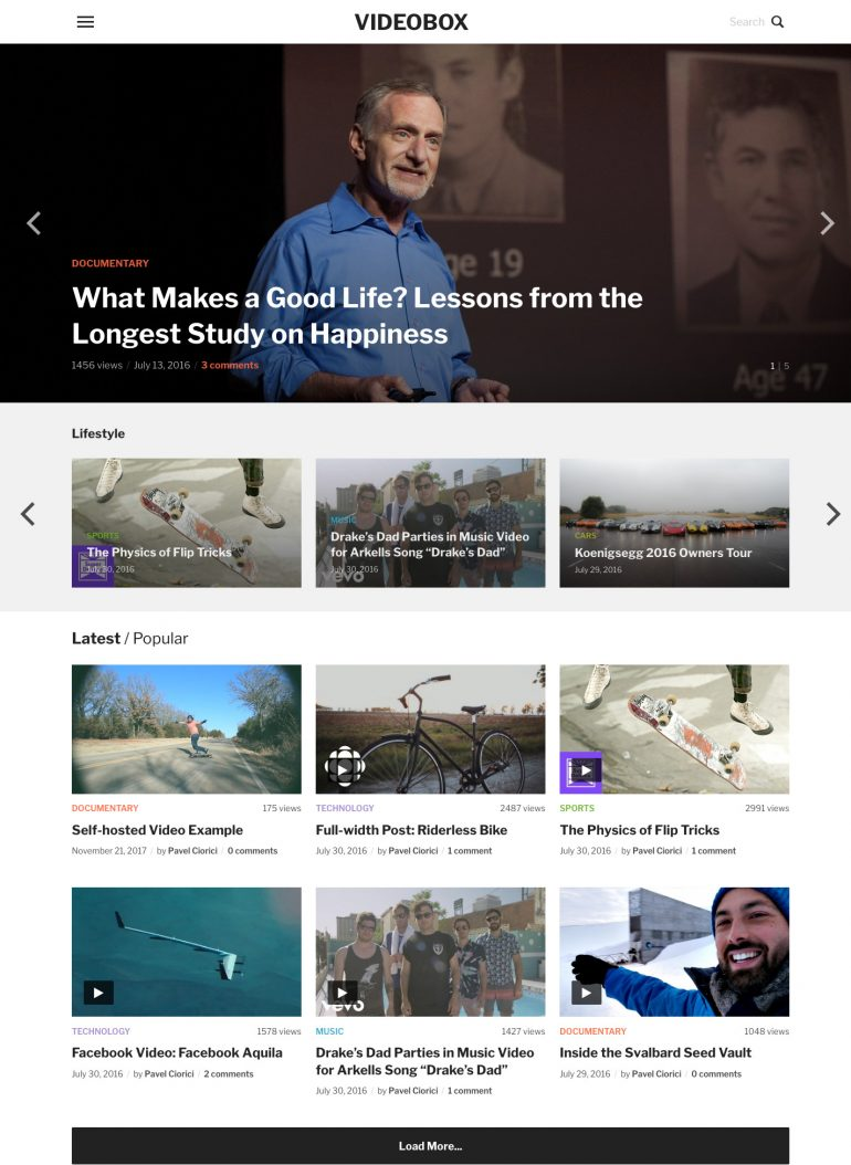 1001+ Best WordPress Video Themes 2018 - For Video Magazines, Video ...