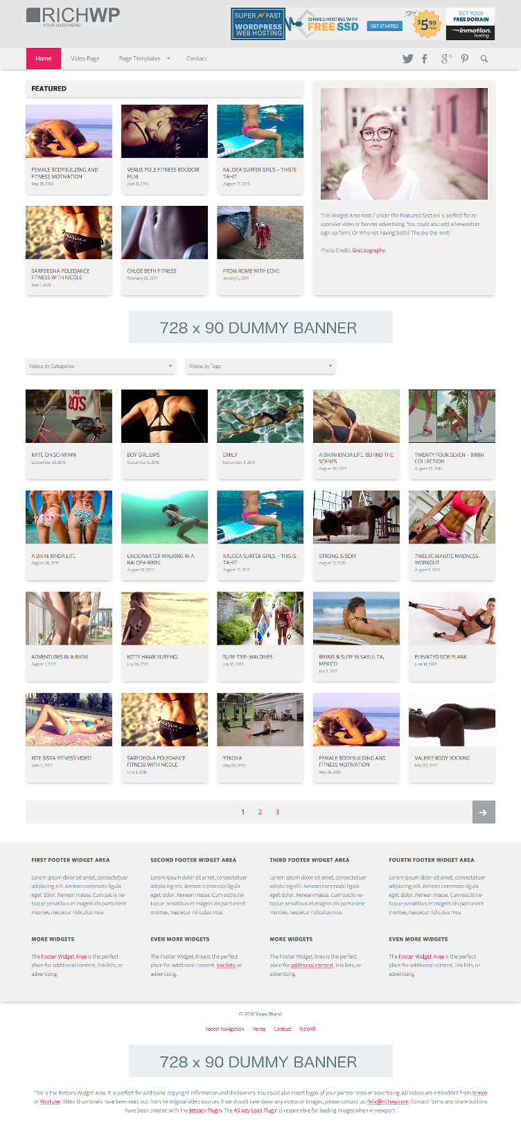 Video World - Clean WordPress Video Theme