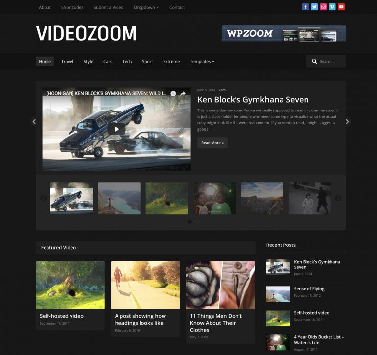 Videozoom -  WordPress Video Theme by WPZOOM