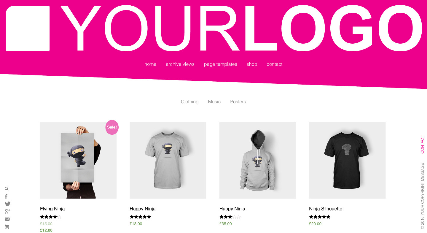 WooCommerce Integrated into Rich Mordern Theme